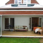 Bi-fold doors patio