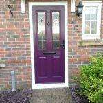 PVCu front door deep purple