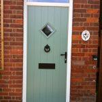 PVCu front door pale green