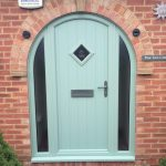 PVCu front door pale green catford