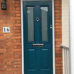 PVCu front door turquoise mailer