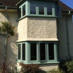 Residence 9 green window frames