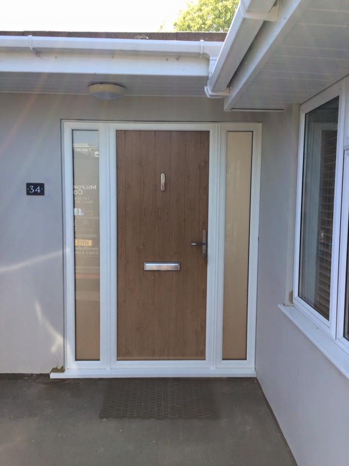 Flint Solidor Composite Doors In Irish Oak The Milford