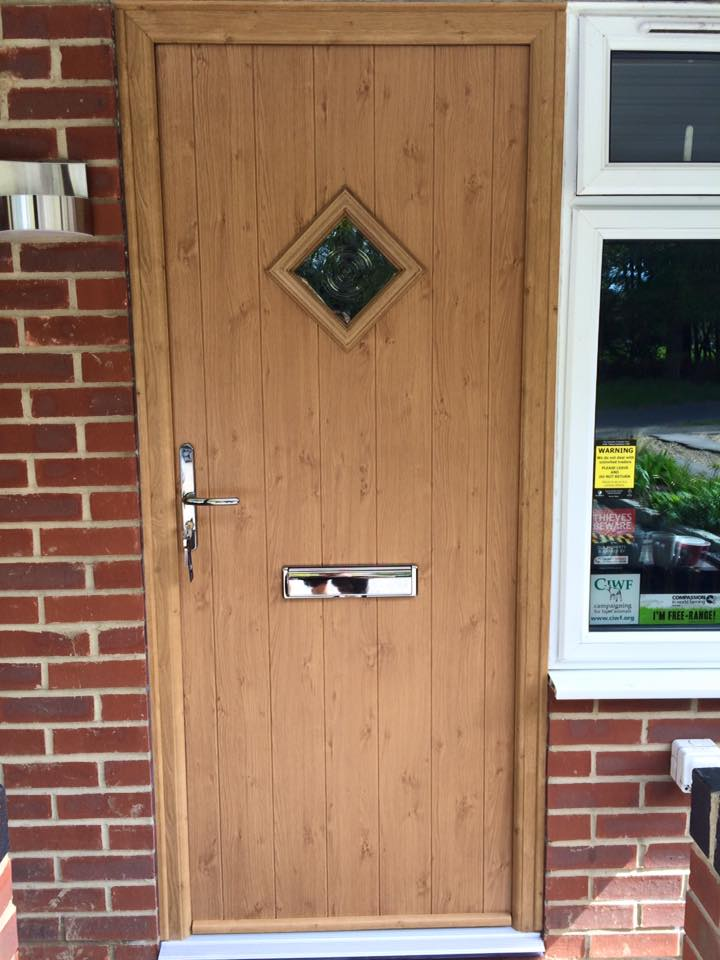 official photos a9966 180ee Flint Solidor Composite Doors in Irish Oak - The Milford ...