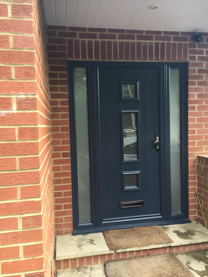 Solidor Composite Doors Anthracite Grey The Milford